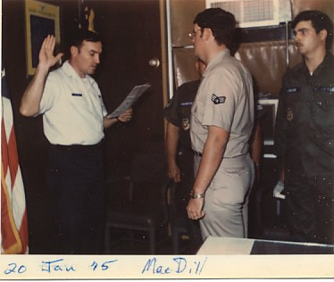 I was having so much fun, I did it again.  This is me re-enlisting for the first time in 1975.