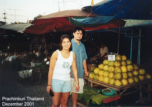 Cindy and Bobby checking out a market