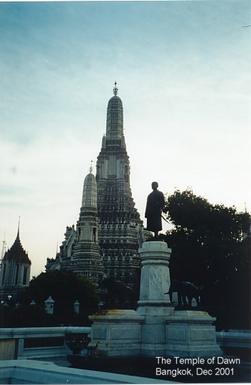 The Temple of Dawn on the Chao Phraya River